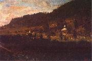 Wojciech Gerson Mountain-foot scenery. oil painting