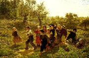 august malmstrom paret ut oil painting