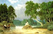 broderna von wrights metfiskare oil painting reproduction