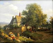 St. Anna's church in Krupka,, Adrian Ludwig Richter