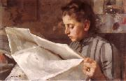 Emma Zorn reading, Anders Zorn