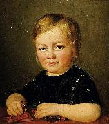 Child with toy figures, Anonymous