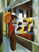 August Macke Hutladen oil painting reproduction