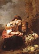 Bartolome Esteban Murillo Vendedores de fruta oil painting reproduction