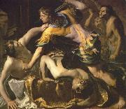 Orestes slaying Aegisthus and Clytemnestra