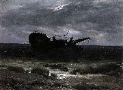 Caspar David Friedrich Wreck in the Moonlight oil painting reproduction