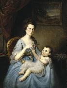 Mrs David Forman and Child