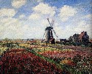 Tulip Fields With The Rijnsburg Windmill, Claude Monet