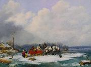 Cornelius Krieghoff Winter Landscape oil painting reproduction