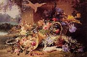 Eugene Bidau Still Life with Flowers oil painting artist