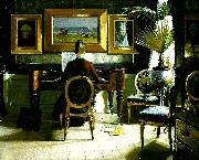 Eugene Jansson vid pianot oil painting reproduction