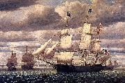 Fitz Hugh Lane Clipper Ship Southern Cross Leaving Boston Harbor oil painting