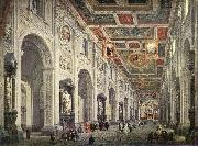 Interior of the San Giovanni in Laterano in Rome, Giovanni Paolo Pannini