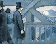On the Pont de l Europe, Gustave Caillebotte