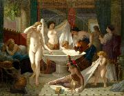 Henri-Pierre Picou Young women bathing. oil painting reproduction