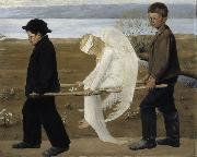 Hugo Simberg Wounded Angel oil painting reproduction