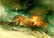 messieurs les voyageurs on their return from italy in a snow drift upon mount tarrar, J.M.W.Turner