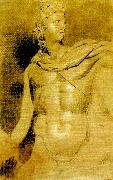 study of the head and torso of the apollo belvedere