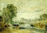 hampton cour from the thames, J.M.W.Turner