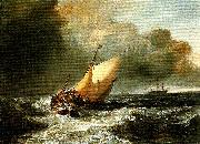J.M.W.Turner dutch boats in a gale oil painting reproduction