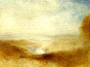 landscape with a river and a bay in the distance, J.M.W.Turner