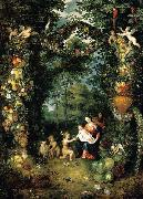 Jan Brueghel the Younger The Holy Family with St John oil painting