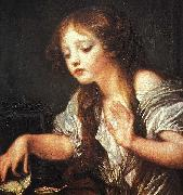 Young Girl Weeping for her Dead Bird