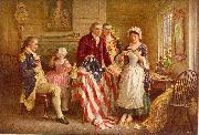 Jean Leon Gerome Ferris Betsy Ross 1777 oil painting