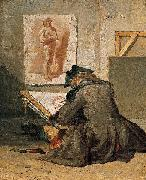 Jean Simeon Chardin Young Student Drawing oil painting reproduction