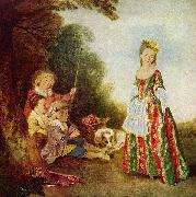 Jean antoine Watteau Der Tanz oil painting on canvas