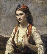 Jean-Baptiste Camille Corot The Young Woman of Albano (L'Albanaise) oil painting artist