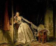 Jean-Honore Fragonard The Stolen Kiss oil painting reproduction