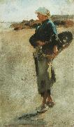 Breton Girl with a Basket, John Singer Sargent