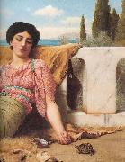 A Quiet Pet, John William Godward