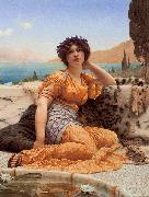 With Violets Wreathed and Robe of Saffron Hue, John William Godward