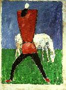 peasant and horse, Kazimir Malevich