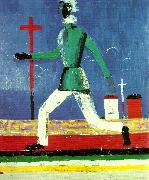 Kazimir Malevich running man oil painting reproduction