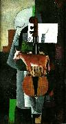 cow and violin, Kazimir Malevich