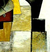 detail of portrait of the composer matiushin,, Kazimir Malevich