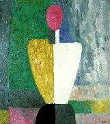 half figure with a  pink face, Kazimir Malevich