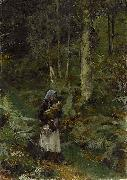 Laura Theresa Alma-Tadema With a Babe in the Woods oil painting