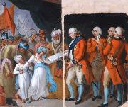 Mather Brown Mather brown lord cornwallis receiving the sons of ipu as hostages oil painting artist