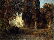 Oswald achenbach Klostergarten oil painting on canvas