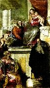 holy family with john the baptist, ss. anthony abbot and catherine, Paolo  Veronese