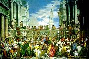 marriage fest at cana, Paolo  Veronese