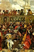 details of marriage feast at cana, Paolo  Veronese