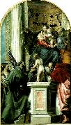 holy family with ss, Paolo  Veronese
