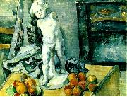 Paul Cezanne stilleben med statyett oil painting on canvas