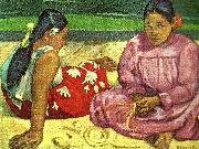 Paul Gauguin kvinnor pa stranden oil painting reproduction