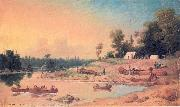 Paul Kane Encampment, Winnipeg River oil painting